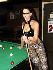 Hot tranny playing some pool then tricking some dude into fucking her