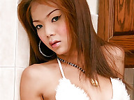 Cute ladyboy with a fat cock that loves to pose