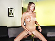 Sweet Julia Reeds Masturbating On The Sofa