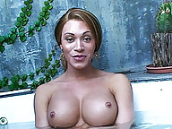 An interview with two naughty transsexuals in jacuzzi