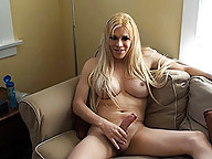 Horny transsexual Jesse fucking her fleshlight