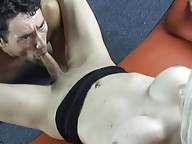 Horny tgirl gets her cock sucked deep