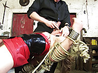 Slave tranny is forced to fuck in every way so much she starts to like it
