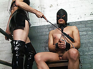 Submissive slave getting owned by mistress Foxi