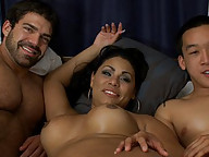 Debuting TsDoll - a smoking hot Southern Belle who ass and face fucks a beefy football player and the chem tutor in a hot threesome.