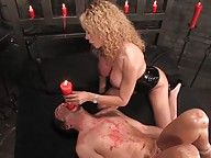 Gia Darling turns her slave into a bitch and ass fucks him