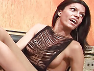 Horny T-girls play game and get naked