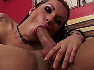 Horny shemale spread for some thick shemale cock