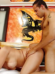 Horny redhead hungry for his hard cock