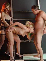 Sweet TMILF Jasmine banging Heidi while she