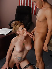 Naughty transsexual riding a cock