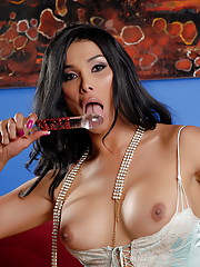 Horny TS Vaniity toying her tight juicy ass deep and hard