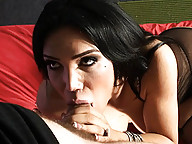 Busty TS Mariam giving a head and getting fucked