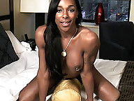 Ebony goddess Natalia seducing and giving a hot POV blowjob