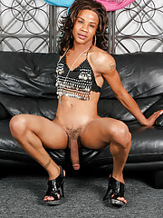 Black Tgirl with a massive cock!