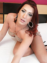 Red head tranny with big tits!
