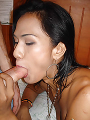 Asian tranny shows off girl pole