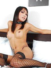 Ladyboy with super model body stripping