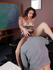TS Monique gets blowed and fucked by her teacher