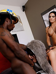 Hot Eva and Foxxy going dirty with a fireman