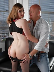 Lovely Tiffany Starr riding Tom