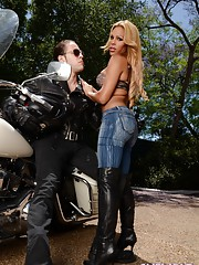 Sweet Jenna getting banged by the biker boy