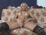 Hot Blond with Big Tits Stroking