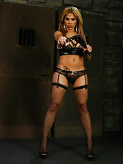 TS domme Jessica playing in the dungeon