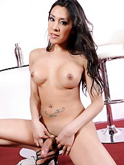 Irresistible TS Ximena stripping and posing