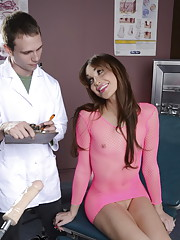 Jonelle testing a fuck machine at doctor