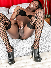 Horny ebony TS hottie!