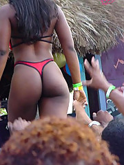 Hot babes with sexy black butts
