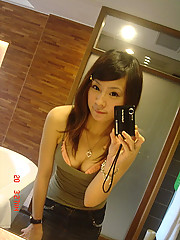 Handful of hot and naughty Asian GFs