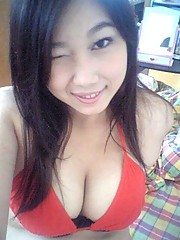 Japanese cutie named Toshu takes delicious cleavage selfpics