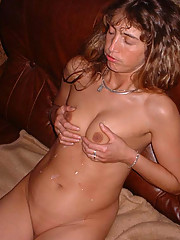 Pictures of a horny wife who got jizzed on