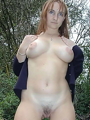 Pictures of three busty amateur MILFs posing