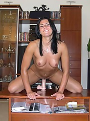 MILF loves her dildo