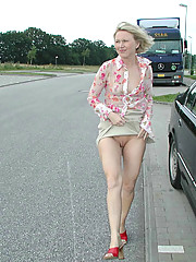 Public sex with German MILF