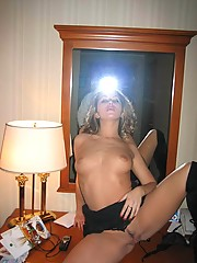 Pretty MILF Sally does striptease
