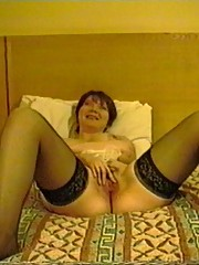 Pantyhose MILF in her bedroom