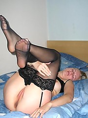 Blonde slut plays with dildo