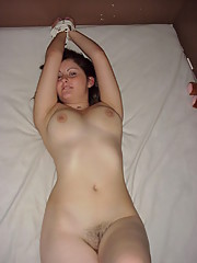Busty babe strips and gets hardcore