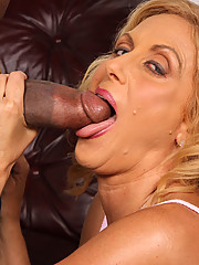 Cougar Mom makes son watch as she fucks black dick