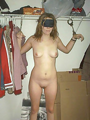 Photos of two amateur sluts who are into kinky bondage