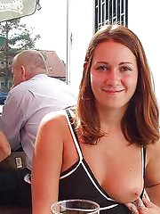 Adventurous amateurs doing public flashing