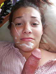 Blowjob queen Paula getting a facial
