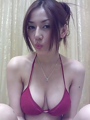 Asian big natural tits