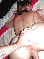 Big-assed chick does all kinds of hardcore