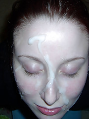 Hot and wild picture set of messy cum facials