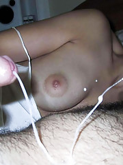 Photo collection of various amateur cumshots